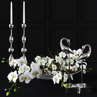 Orchid decorative set
