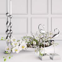 Orchid decorative set