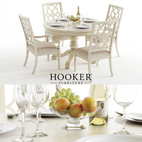 3D set hookers sandcastle table chairs