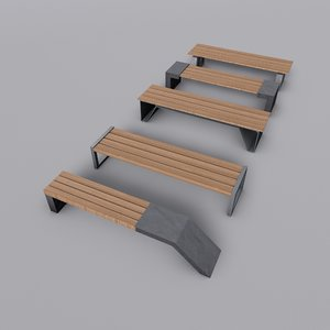 park benches model