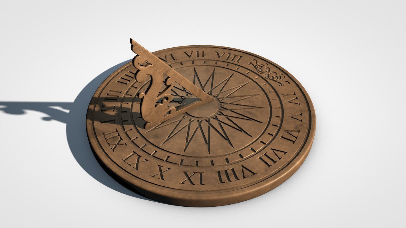 3D sundial sun model