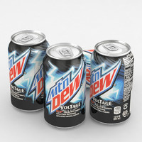 3D beverage mountain dew voltage