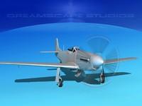 3D model mustang cockpit