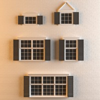 3D 5 different types architectural model
