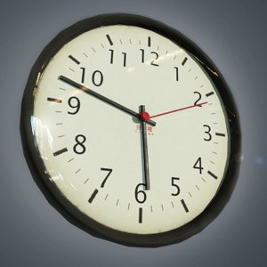3D wall clock- ready clock