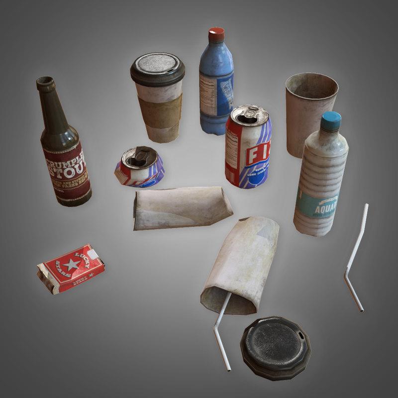 trash set 1 - 3D