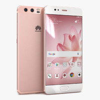 3D huawei p10 rose gold model