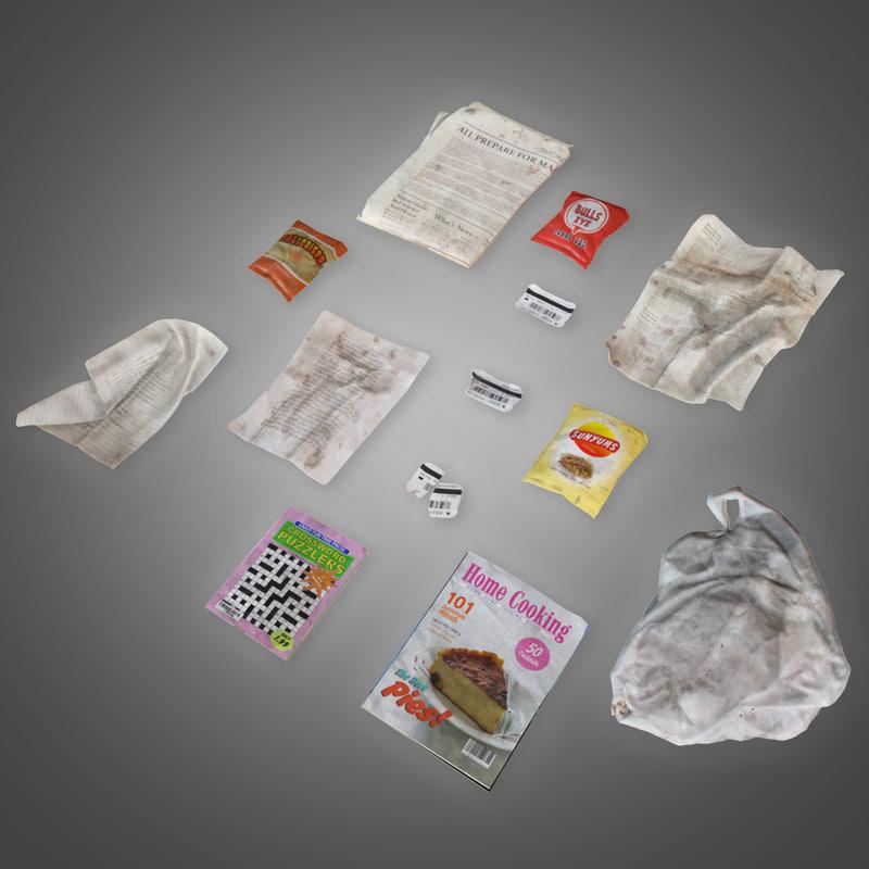 3D trash set 2 -
