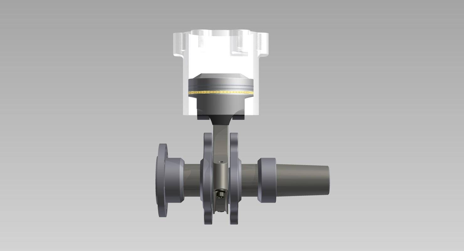 crankshaft piston 3D model
