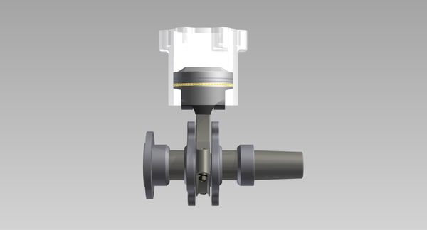 crankshaft piston 3D model