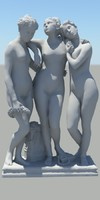 roman figure 3d model 09