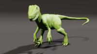 HIGH POLY Velociraptor