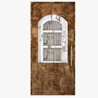 3D model door old medieval
