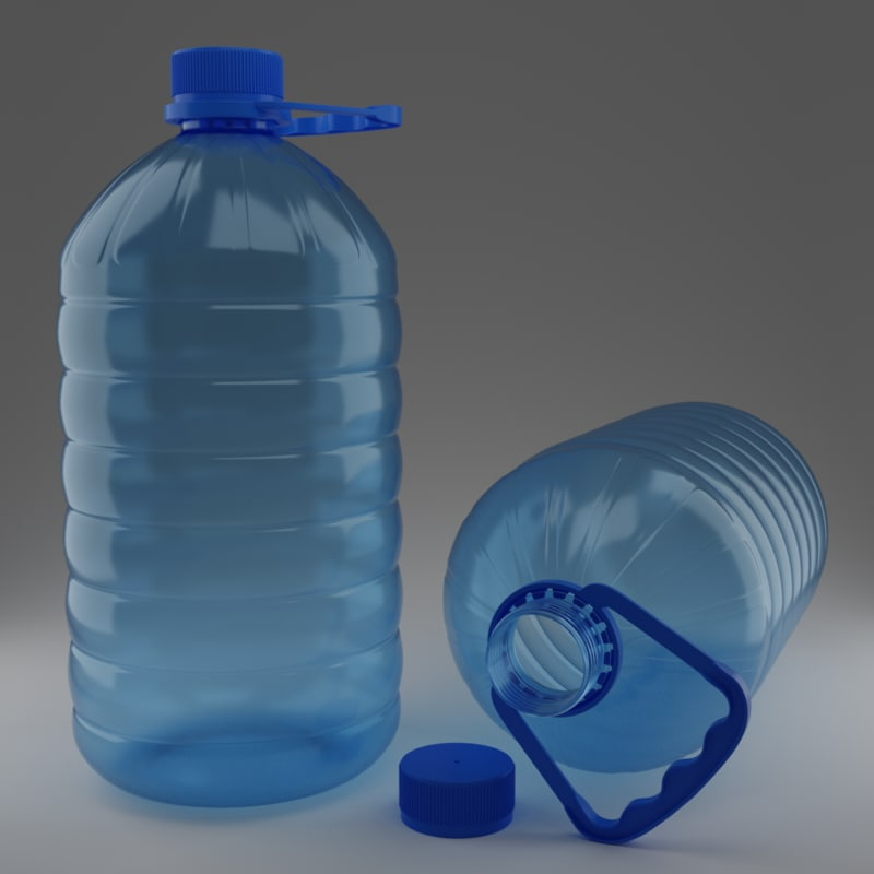 5 pet bottle 3D model