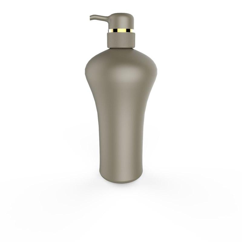 3D shampoo bottle