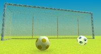 soccer ball goal post model