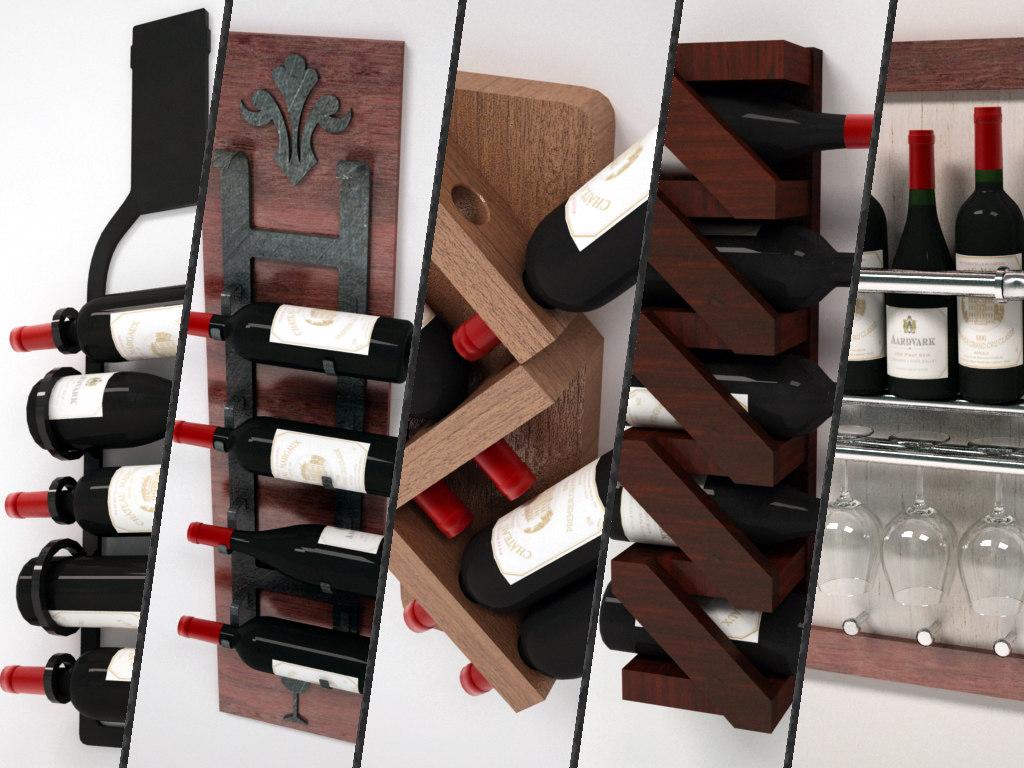 3D wine racks