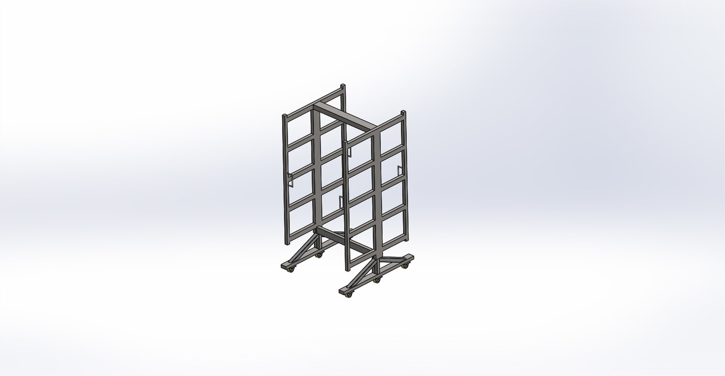 3D smoking trolley
