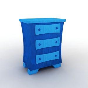 3D cartoon dresser