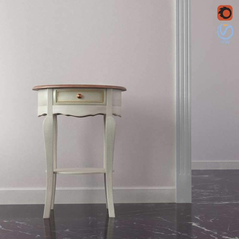 table classic corona 3D model