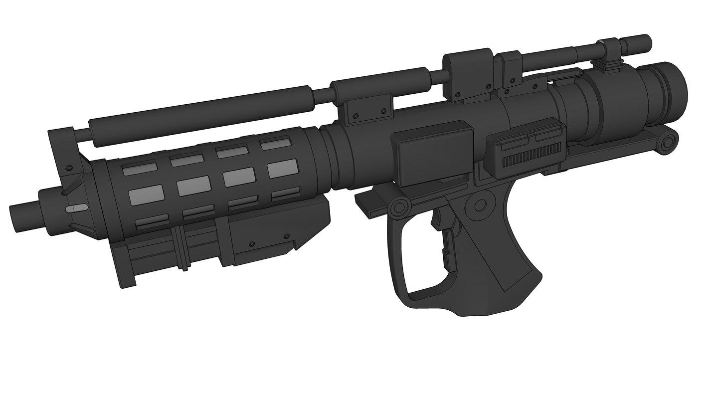 3D e-5 blaster rifle model