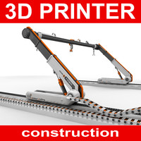 3D construction printer