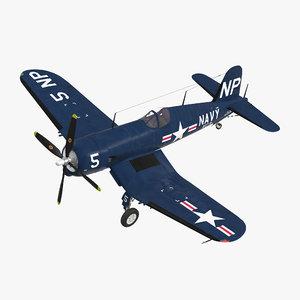 navy fighter f4u 5nl model