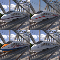 3D hi-speed train siemens velaro