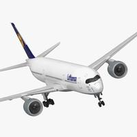 Airbus A350-900 Lufthansa Rigged