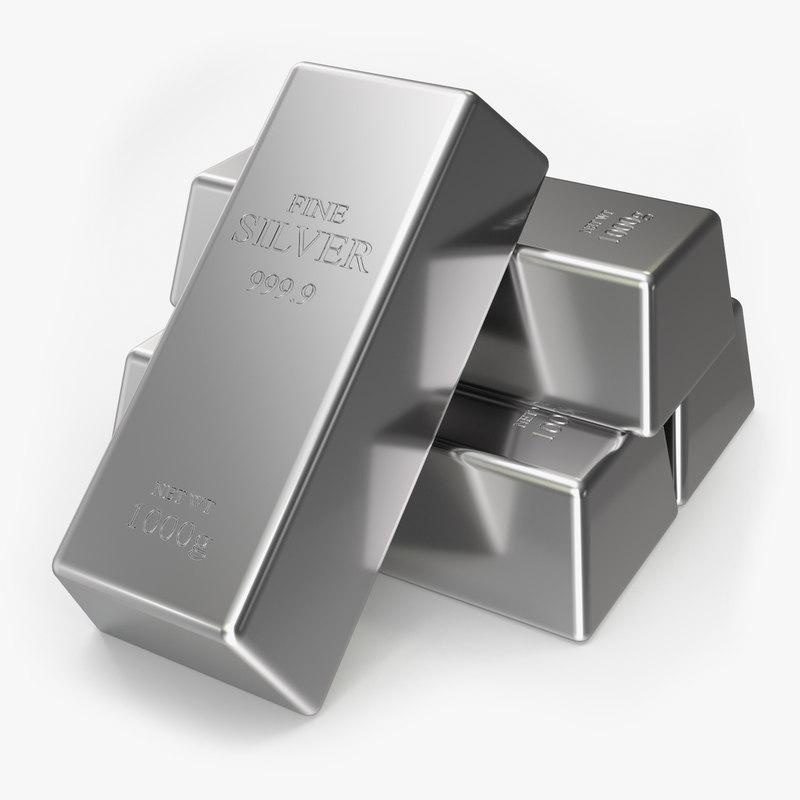 silver bar 3D model