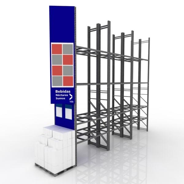 3D cash racks store model