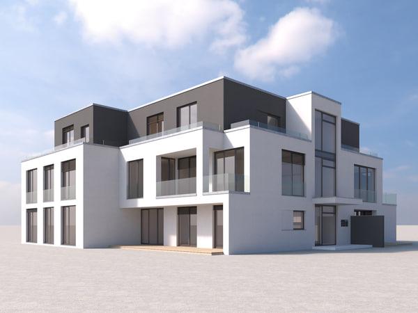 villa modern 3D