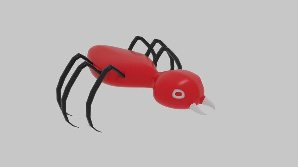 3D bug monster alien model