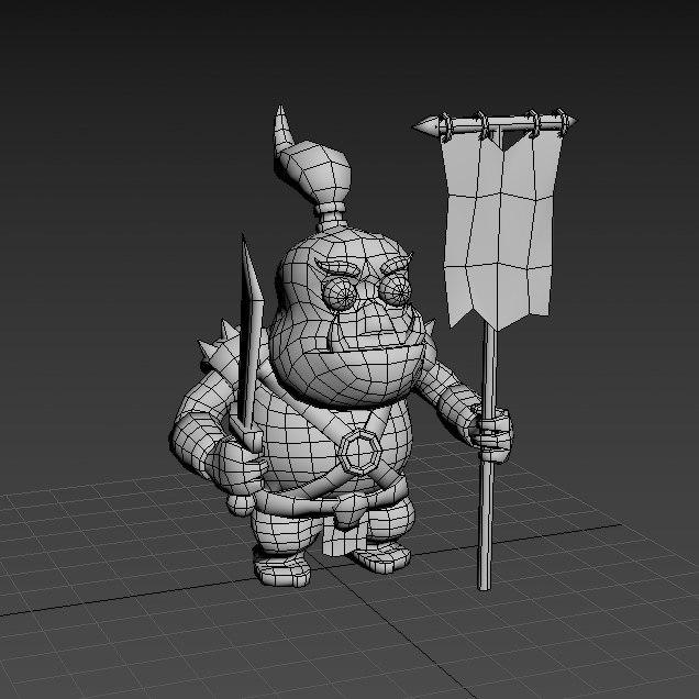 orc character sword model