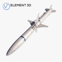 3D model missile agm-88 harm