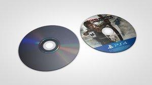 blu-ray discs 3D model