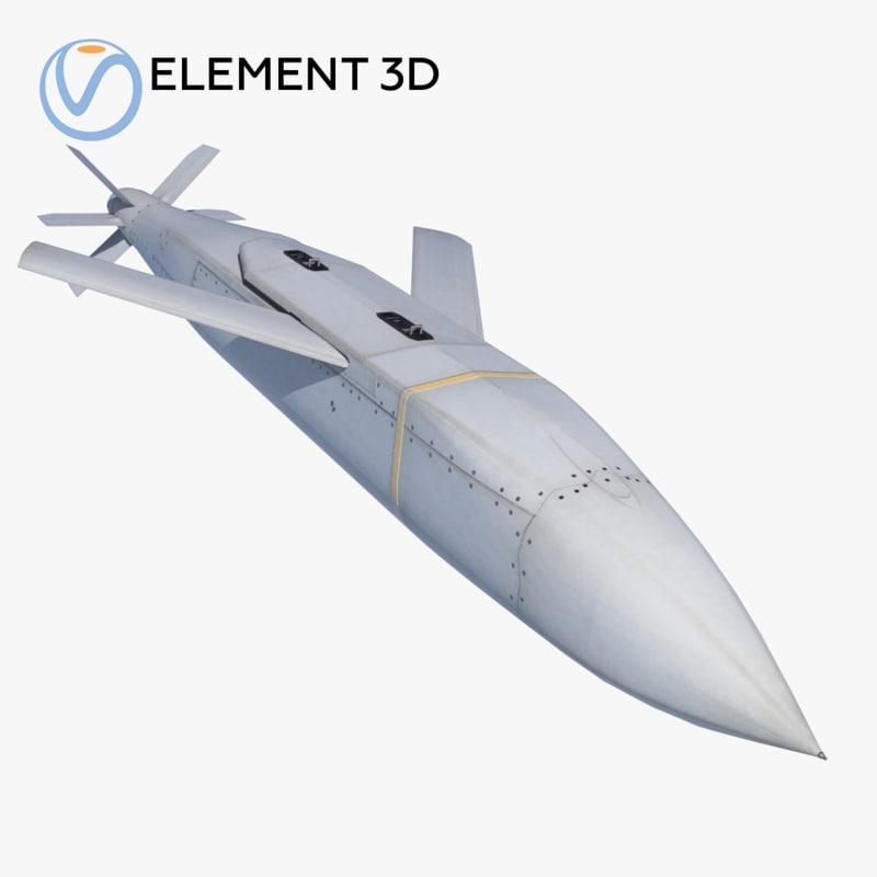 missile agm-154 jsow 3D model