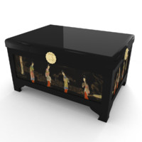 chinese lacquered trunk 3D model