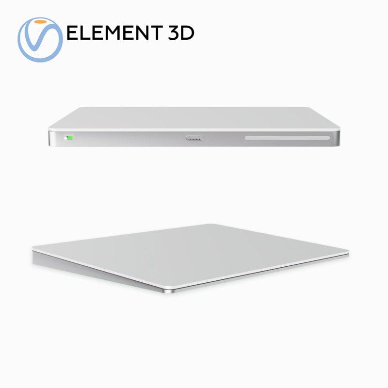magic trackpad 2 3D model