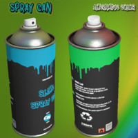 3D spray ready model