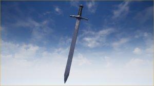 kinght sword 3D model