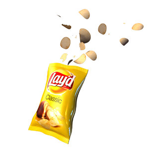 3D bag chips model