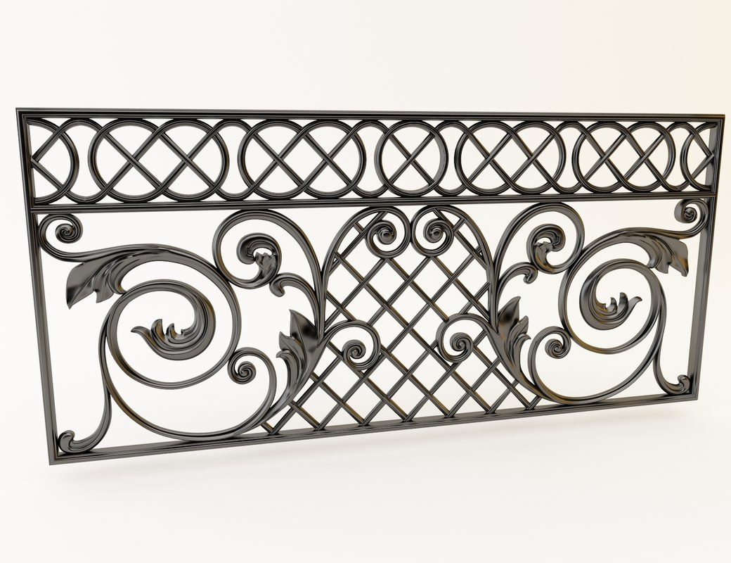 decor cast iron 3D model