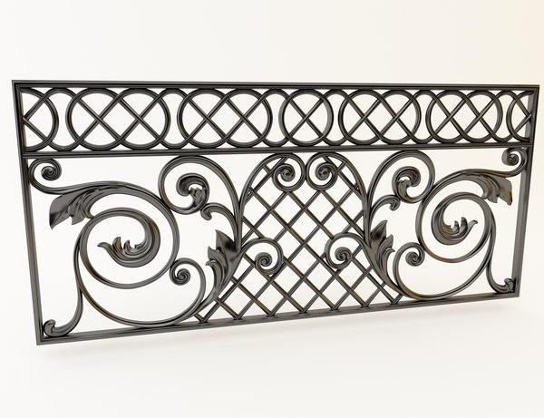 decor cast iron 3D model