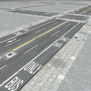 3D city new york streets