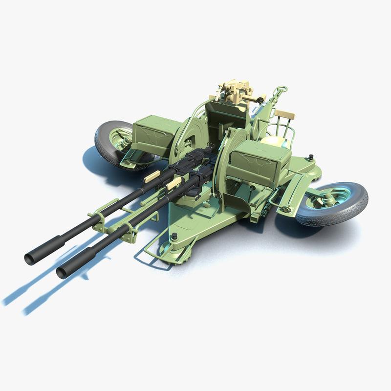 3D anti-aircraft zu-23-2