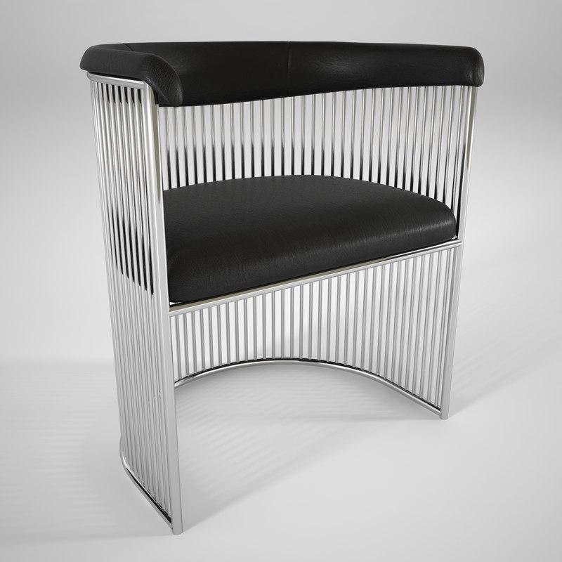 3D warren platner vinyl chair