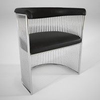 3D warren platner vinyl chair