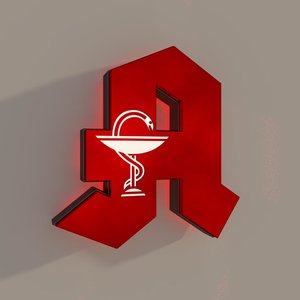 3D model germany pharmacy logo
