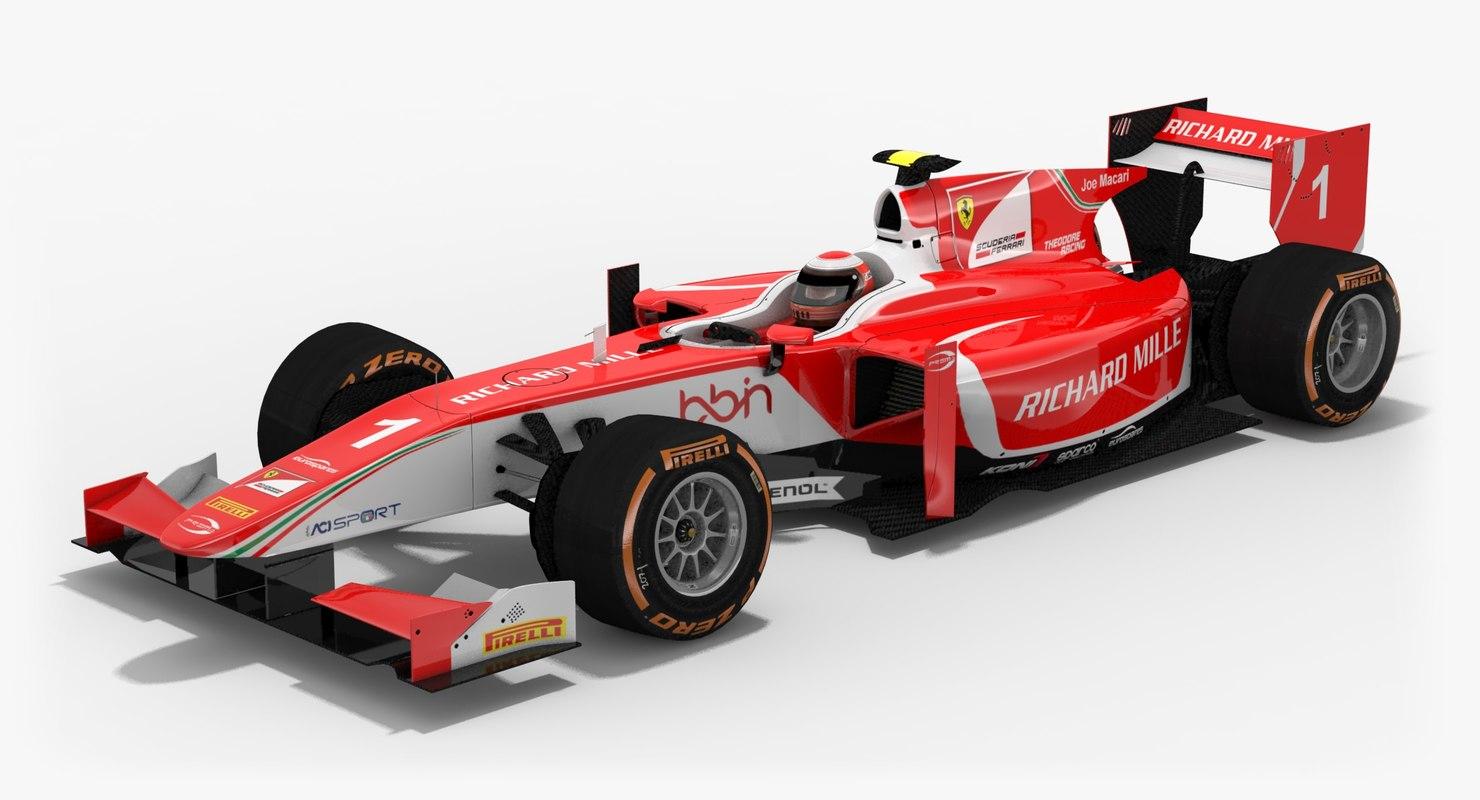 prema racing formula 2 3D model